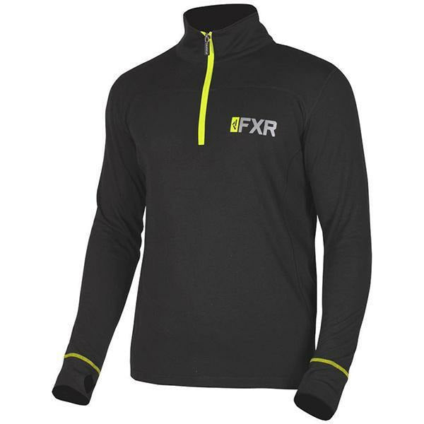 FXR Vapour 20% Merino Mens Long Sleeve 1/4 Zip | Sale Layers FXR Black/Hi Vis S
