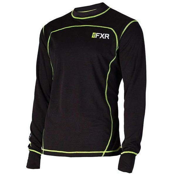 FXR Vapour 20% Merino Mens Long Sleeve | Sale Layers FXR Black/Hi Vis S