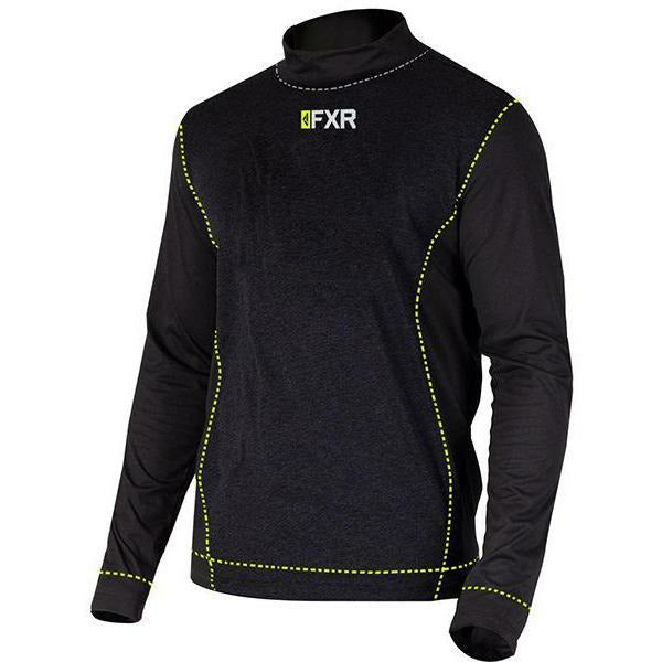 FXR Vapour 20% Merino Mock Neck Men's Longsleeve 2020 Layers FXR Black/Hi Vis S