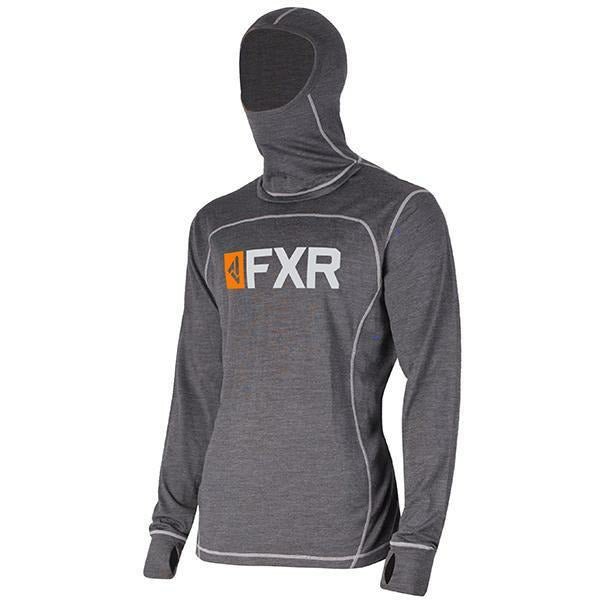 FXR Vapour 50% Merino Balaclava Men's Longsleeve 2020 Layers FXR Char/Orange S