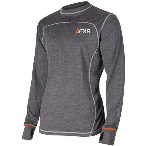 FXR Vapour 50% Merino Mens Long Sleeve | Sale Layers FXR Char/Orange S