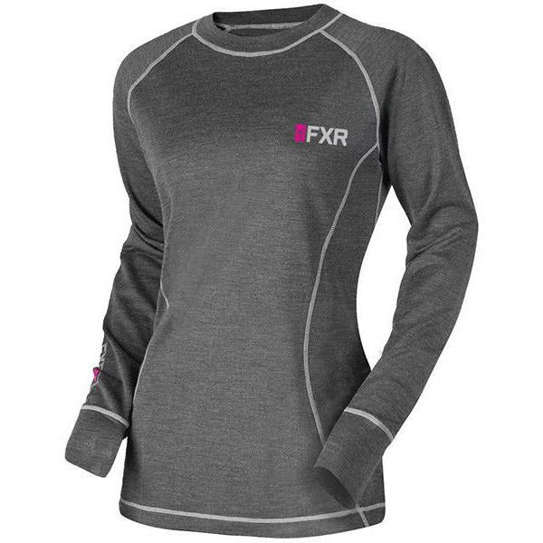 FXR Vapour 50% Merino Women's Long Sleeve | Sale Layers FXR Char/Fuchsia XS