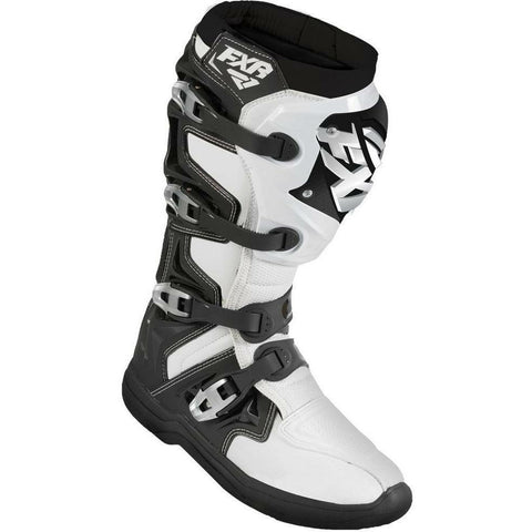 FXR Motocross Factory Ride Boot Footwear FXR Black/White 7\9