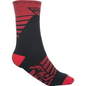 Fly Racing Factory Rider Socks Footwear Fly Racing RED/BLACK SM/MD