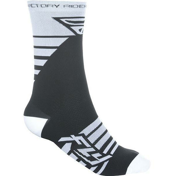 Fly Racing Factory Rider Socks Footwear Fly Racing WHITE/BLACK SM/MD
