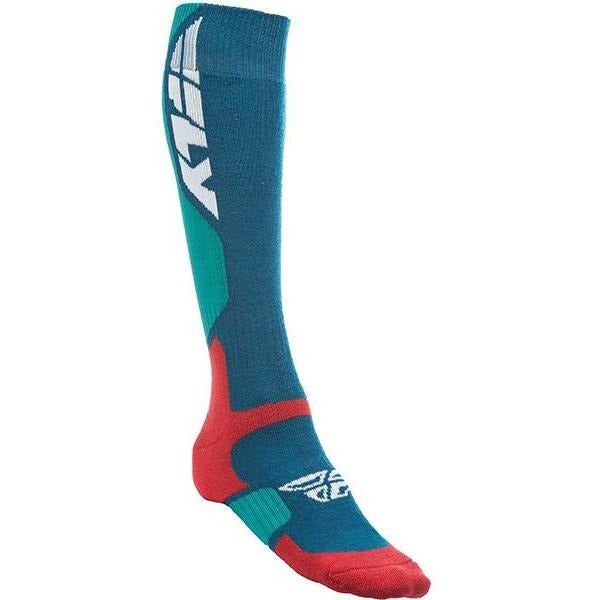 Fly Racing MX Pro Socks Footwear Fly Racing THICK RED/BLUE SM/MD
