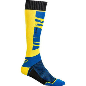 Fly Racing MX Socks Footwear Fly Racing NAVY/YELLOW YOUTH