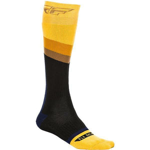 Fly Racing MX Socks Footwear Fly Racing YELLOW/DARK GREY/BLACK YOUTH