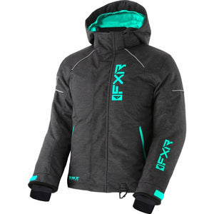 FXR Fresh Child's Jacket 21 FXR 2021 Char Jersey/Mint 2