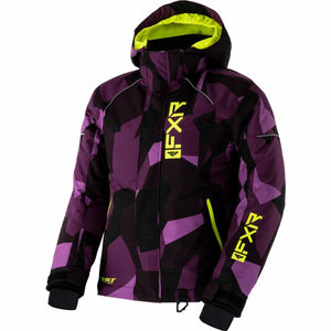 FXR Fresh Child's Jacket 21 FXR 2021 Plum Camo/Hi Vis 2