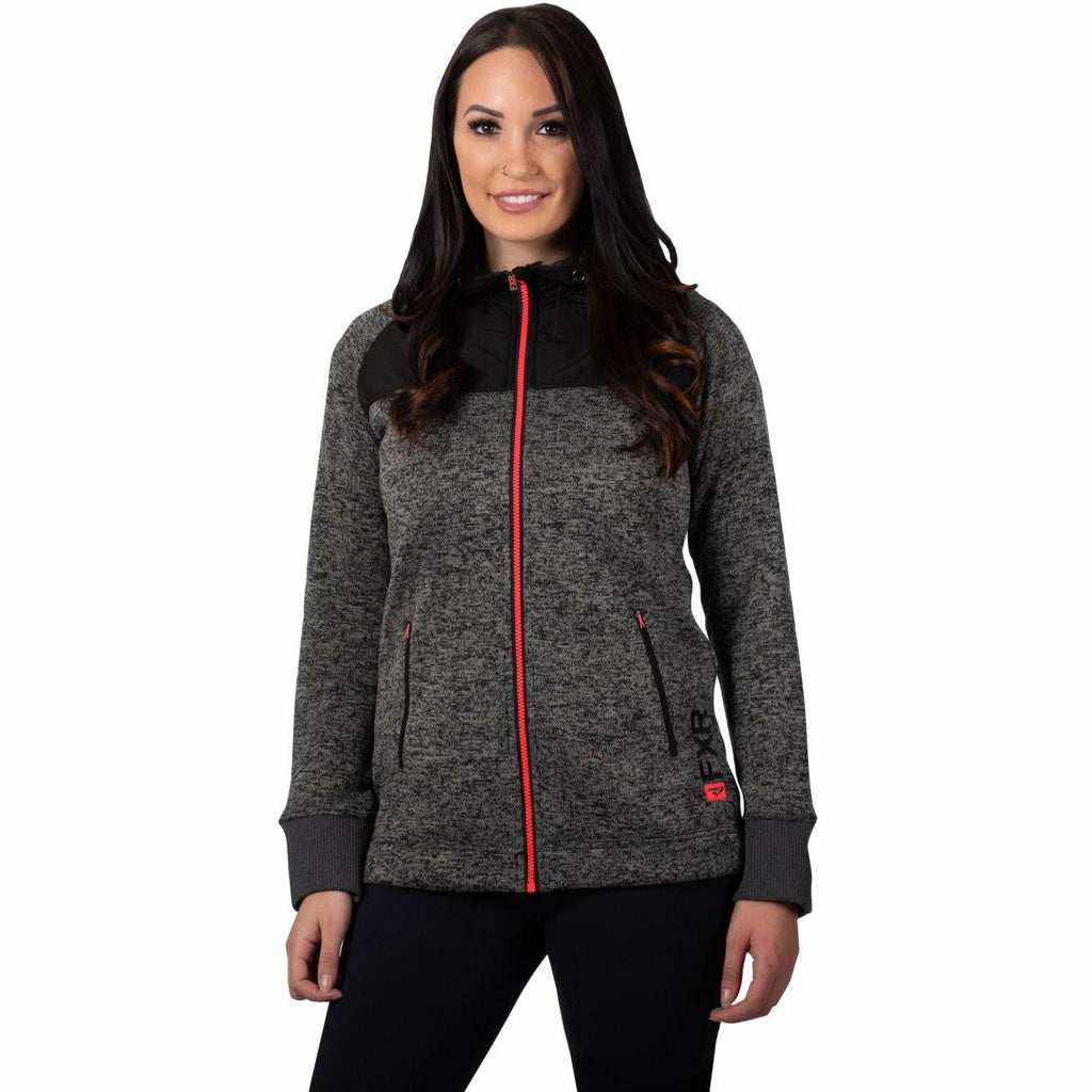 FXR Fusion Sweater Women's Hoodie 21 Casual FXR Char Heather/Coral XS