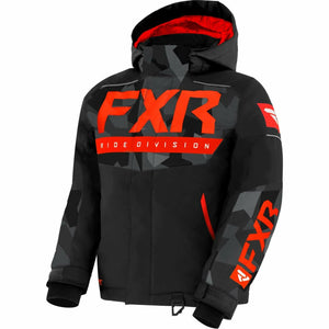 FXR Helium Child's Jacket 21 FXR 2021 Black/Char Camo/Nuke 2