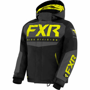 FXR Helium Child's Jacket 21 FXR 2021 Black/Char/Hi Vis 2