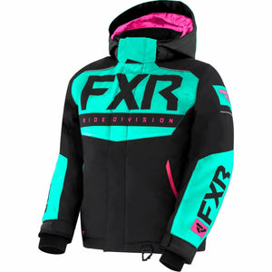 FXR Helium Child's Jacket 21 FXR 2021 Black/Mint/Elec Pink 2