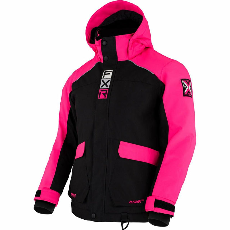 FXR Kicker Child's Jacket 21 FXR 2021 Black/Elec Pink 2