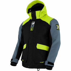 FXR Kicker Child's Jacket 21 FXR 2021 Black/Lime/Steel 2