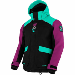 FXR Kicker Child's Jacket 21 FXR 2021 Black/Mint/Wineberry 2