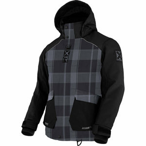 FXR Kicker Child's Jacket 21 FXR 2021 Char Plaid/Black 2