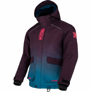 FXR Kicker Child's Jacket 21 FXR 2021 Plum/Ocean/Coral 2