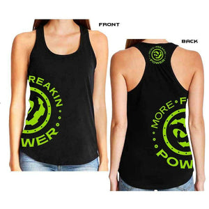 More Freakin Power Racer Back Tank T-Shirt MoreFreakinPower Green Small