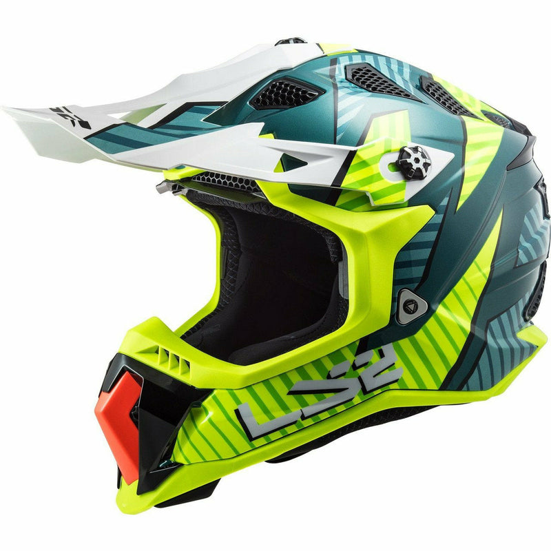 LS2 Subverter Evo Astro Full Face MX Motorcycle Helmet LS2 Helmets Gloss White Orange 2XL