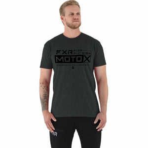 FXR Moto-X Men's T-Shirt 21 FXR 2021 Char Heather/Black S