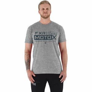 FXR Moto-X Men's T-Shirt 21 FXR 2021 Grey Heather/Slate S