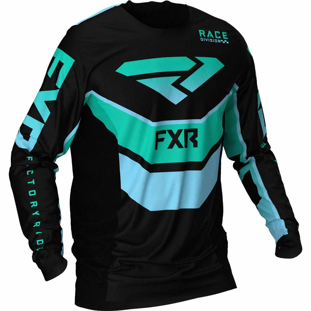 FXR Podium MX Jersey 21 FXR 2021 Black/Mint/Sky Blue XS