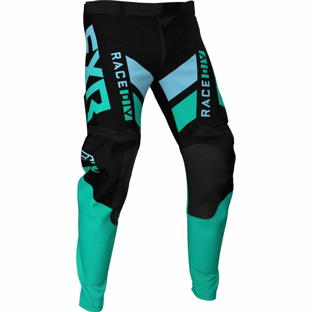 FXR Podium MX Pant 21 FXR 2021 Black/Mint/Sky Blue 28
