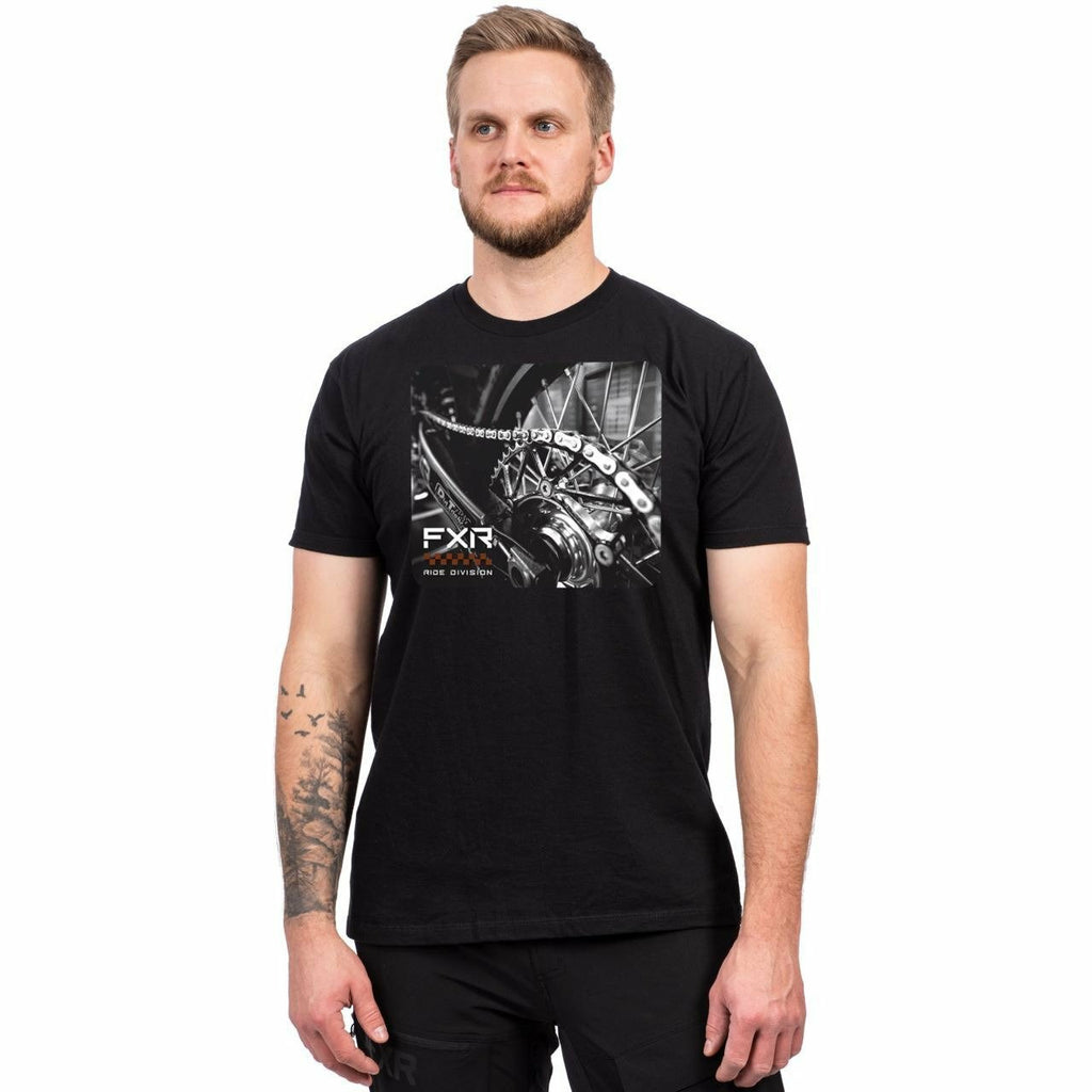 FXR M Ride T-Shirt Casual FXR Black/Rust S