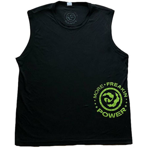 MFP Athletic Men's Tee T-Shirt MoreFreakinPower Black Sleeveless Small