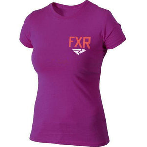 FXR Sway Women's T-shirt | Sale T-Shirt FXR Wineberry/ Electric Tangerine Small