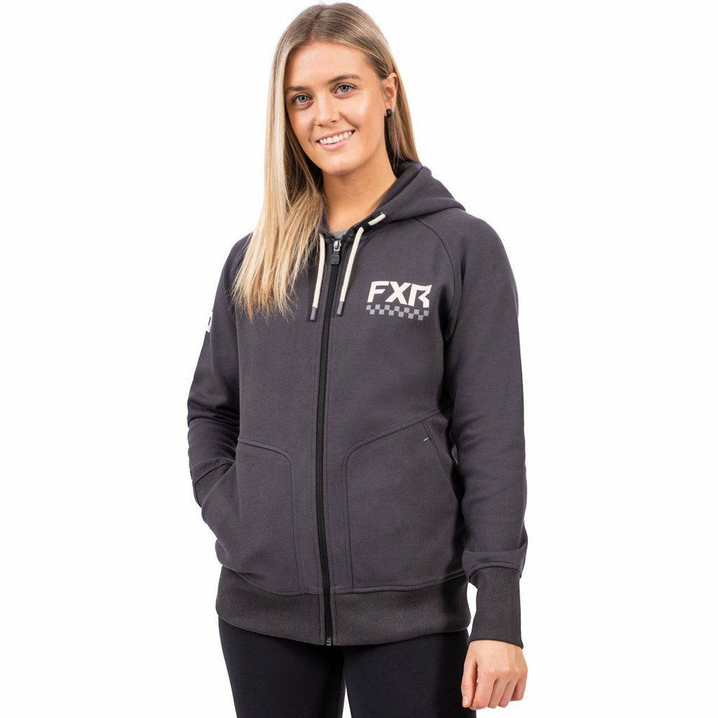 FXR W Throttle Hoodie FXR Spring 2021 Charcoal/Bone XS