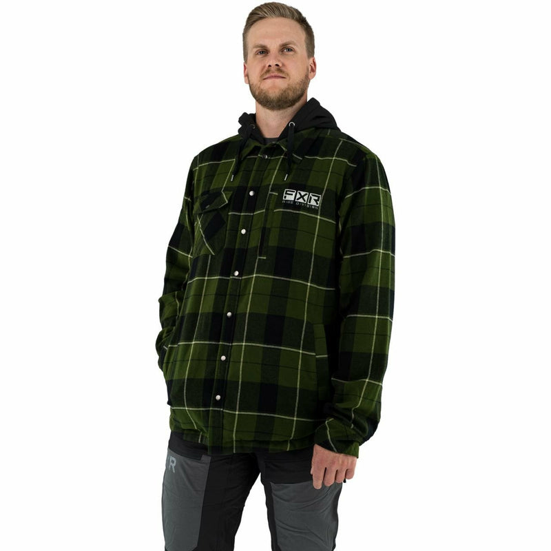 FXR Timber Insulated Men's Flannel Jacket 21 FXR 2021 Army Green/Khaki S