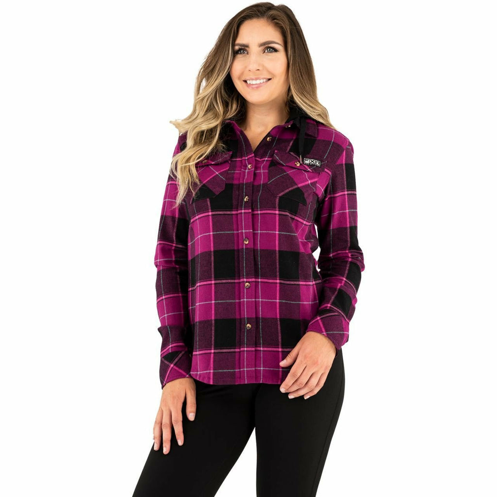 FXR Timber Flannel Women's Shirt 21 Casual FXR Wineberry/Blk XS