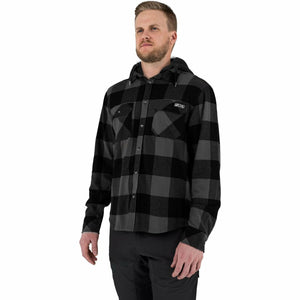 FXR Timber Hooded Men's Flannel Shirt 21 FXR 2021 Char/Black S