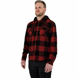 FXR Timber Hooded Men's Flannel Shirt 21 FXR 2021 Rust/Black S