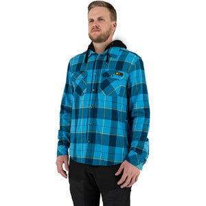 FXR Timber Hooded Men's Flannel Shirt 21 FXR 2021 Sky Blue/Slate S