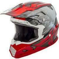FLY RACING TOXIN RESIN HELMET MoreFreakinPower Youth Small RED/BLACK