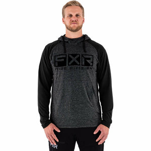 FXR Trainer Lite Tech Men's PO Hoodie 21 FXR 2021 Grey Heather/Black S