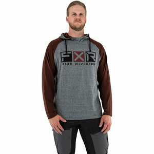 FXR Trainer Lite Tech Men's PO Hoodie 21 FXR 2021 Grey Heather/Rust S