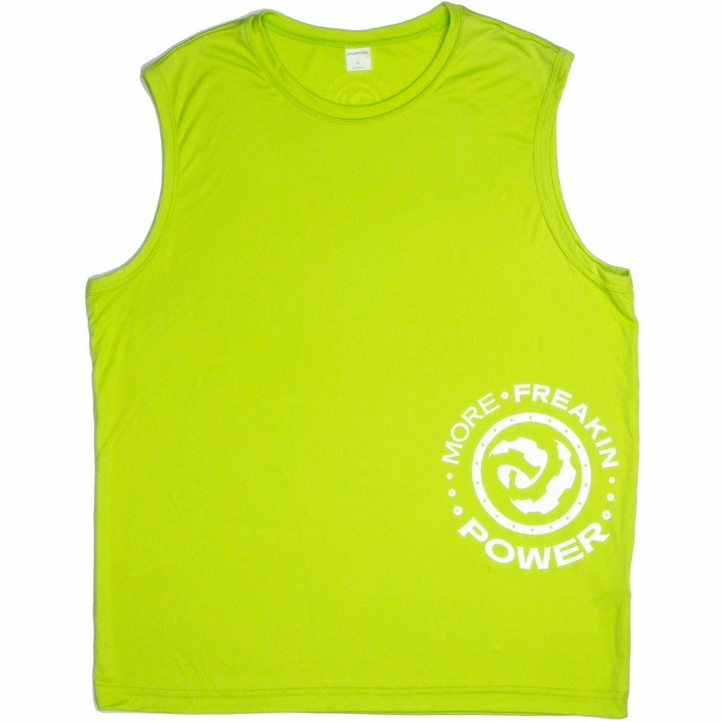 MFP Athletic Men's Tee T-Shirt MoreFreakinPower Hi-Vis Sleeveless Small