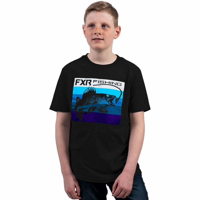 FXR Yth Walleye T-Shirt FXR Spring 2021 Black/Blue S