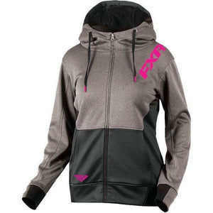 FXR Vivid Sherpa Tech Woman's Hoodie | Sale Hoodie FXR Grey Heather/Fuchsia X-Small