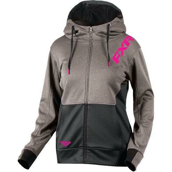 FXR Vivid Sherpa Tech Woman's Hoodie | Sale Hoodie FXR Wine Heather/Black X-Small