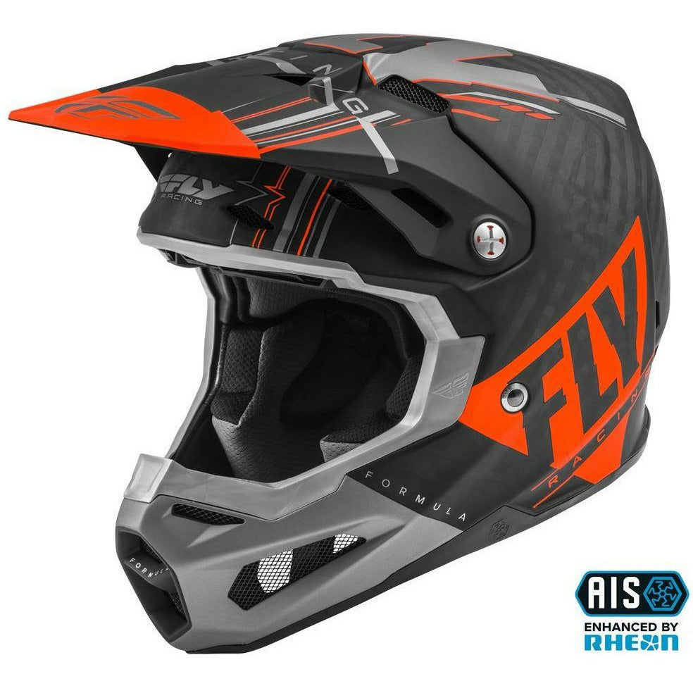 Fly Racing Formula Vector Carbon Helmet 2020 Helmet Fly Racing ORANGE/GREY/BLACK 2X