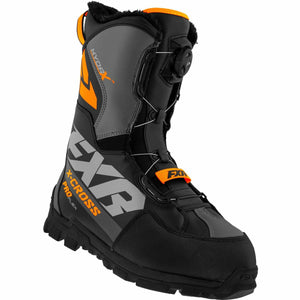 FXR X-Cross Pro Flex BOA Boot 21 FXR 2021 Black/Orange M4/W6/36