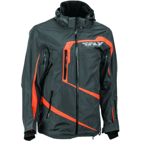 Fly Racing Carbon Jacket 2019 Jacket Fly Racing Grey/Orange 2X
