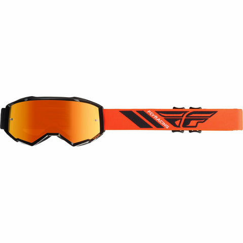 Fly Racing 2019 Zone Goggle Goggles Fly Racing BLACK/ORANGE W/ORANGE MIRROR LENS ADULT