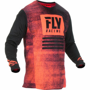 Fly Racing Kinetic Noiz Jersey Jersey Fly Racing NEON RED/BLACK YS